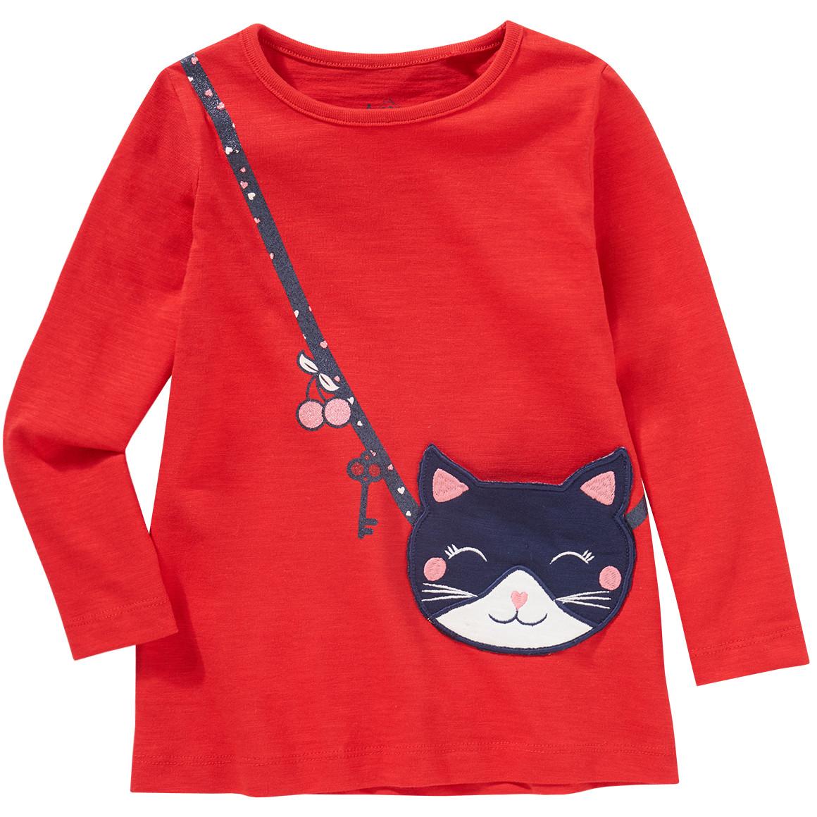 Minigirloberteile - Mädchen Langarmshirt mit aufgesetzter Tasche - Onlineshop Ernstings family