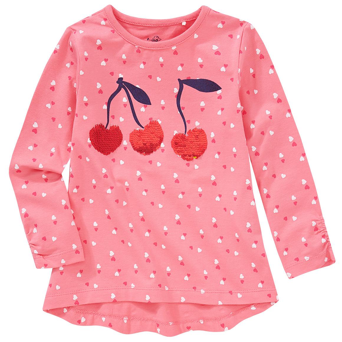 Minigirloberteile - Mädchen Langarmshirt mit Wendepailletten - Onlineshop Ernstings family