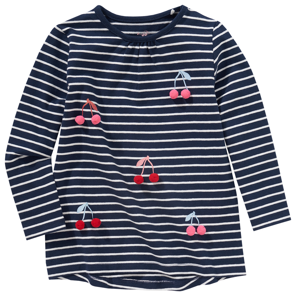 Minigirloberteile - Mädchen Langarmshirt mit 3D Applikationen - Onlineshop Ernstings family