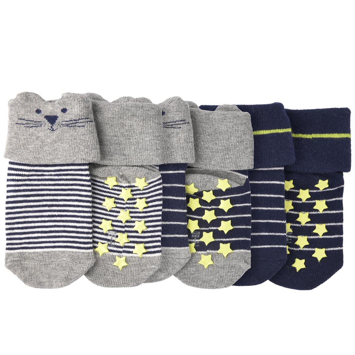 Babyaccessoires - 3 Paar Newborn Socken mit Umschlag - Onlineshop Ernstings family