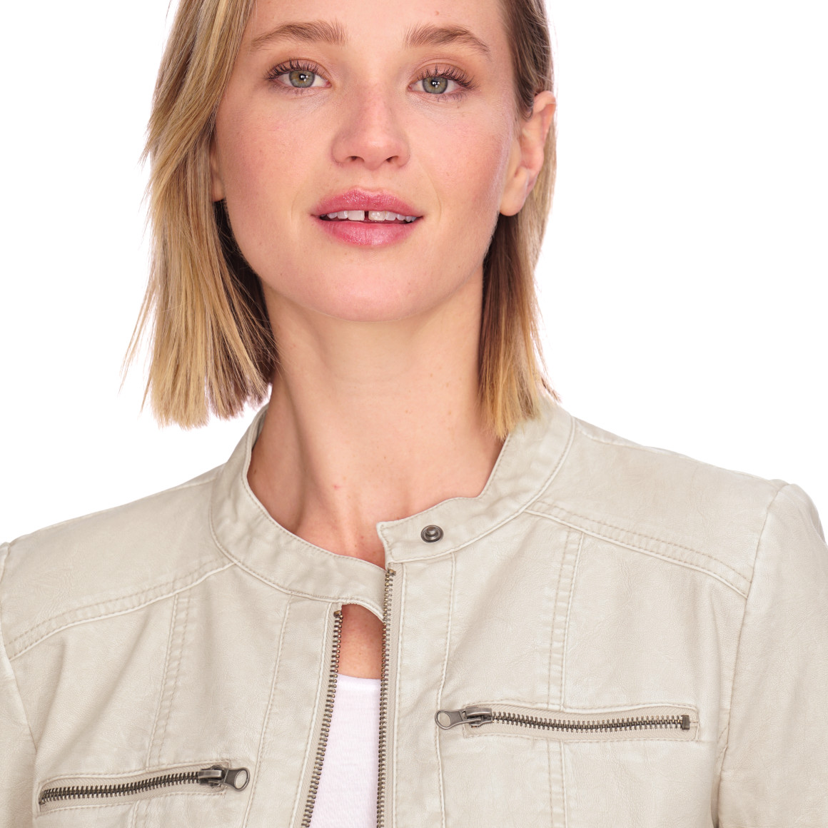 Damen Lederimitatjacke mit Reißverschluss | Ernsting's family