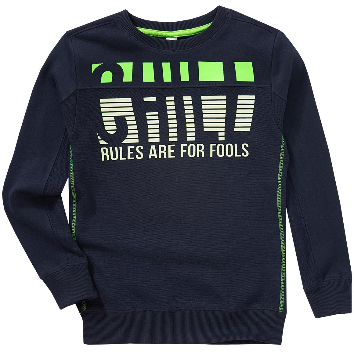 Boysoberteile - Jungen Sweatshirt mit gummiertem Print - Onlineshop Ernstings family