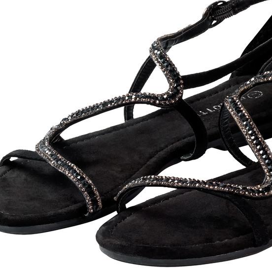 damen sandalen mit glitzersteinen ernsting 39 s family. Black Bedroom Furniture Sets. Home Design Ideas